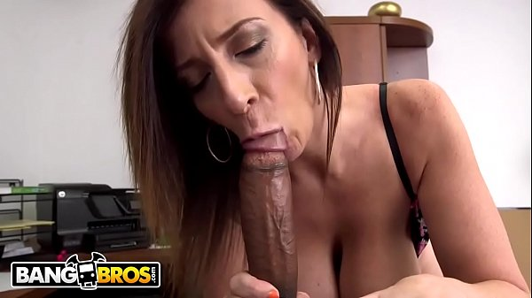 BANGBROS – Busty MILF Sara Jay Sucks A Big Black Cock Like The Professional She Is