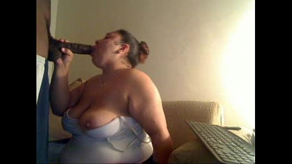 bbw latina works a big black cock