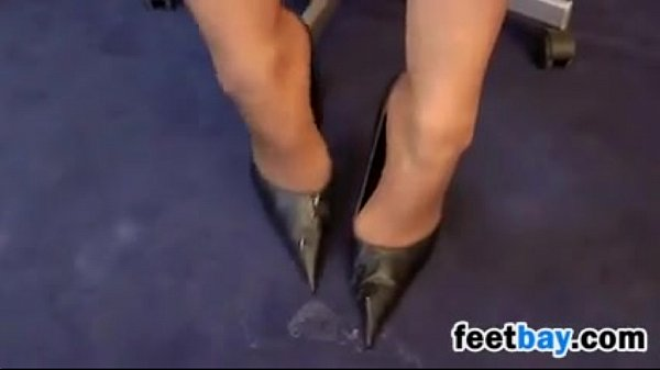 Footjob While Wearing Sexy High Heels