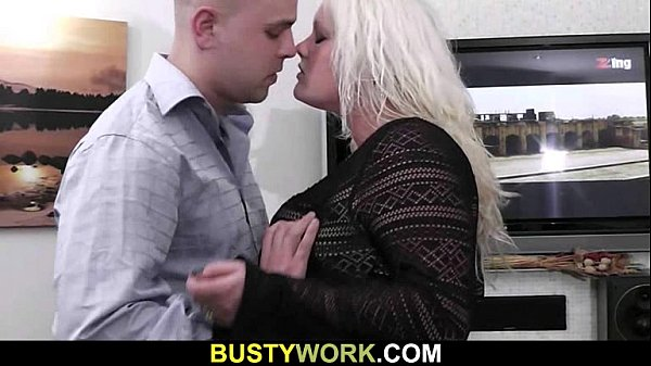 Gorgeous BBW blonde gets doggystyled