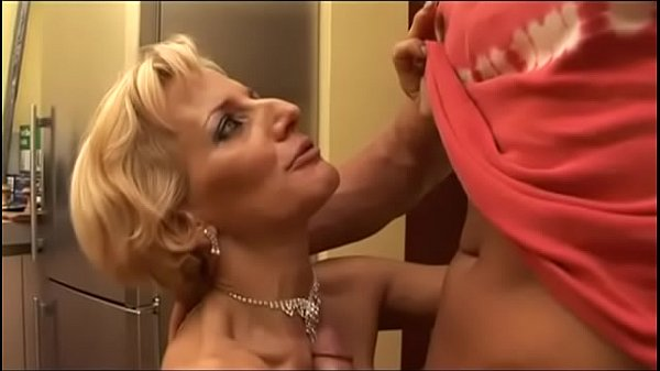 Hot blonde milf will take care of her nephew's cock