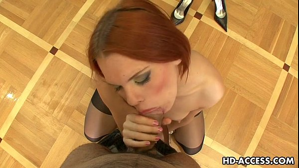 Hot blowjob from Redhead Masha