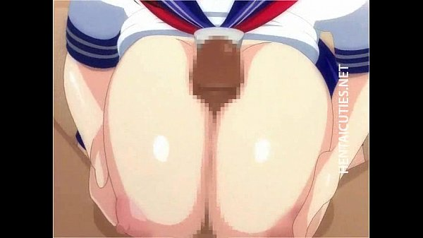 Hot hentai bitch gives BJ and titjob