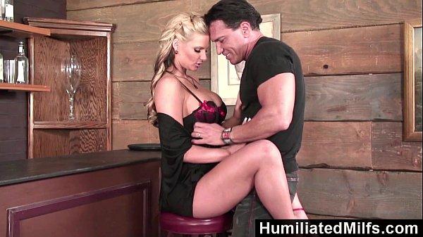 HumiliatedMilfs – Blonde milf loves to get her ass full of cum