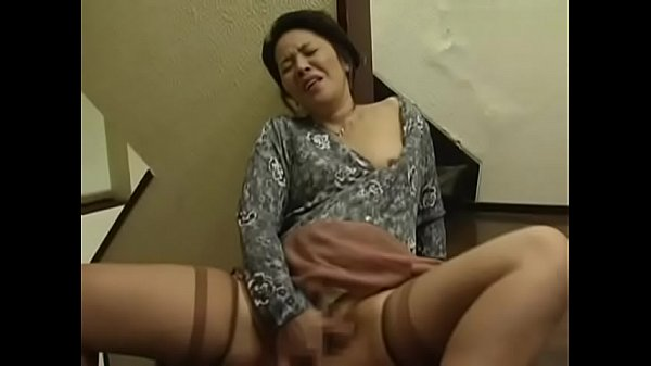 Japanese stepmom masturbates spying on daughter