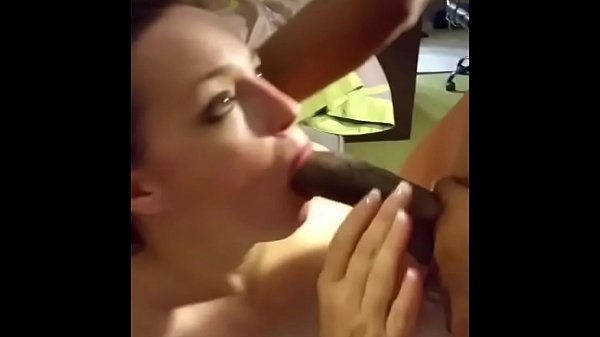 Milf wife blowbangs BBCs while hubby films