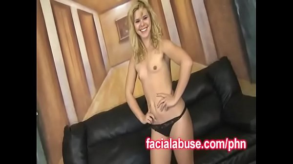 Petite Blonde Passed Between Two Hung Guys