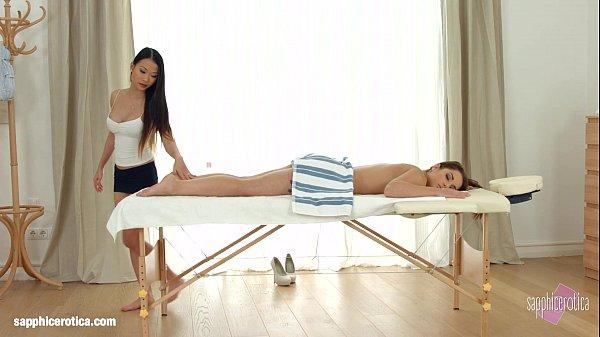 Sensual asian seduction by Sapphic Erotica – PussyKat and Jenny Glam lesbians