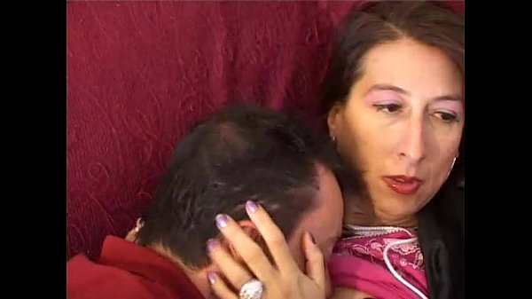 She takes care of her little son and his cock