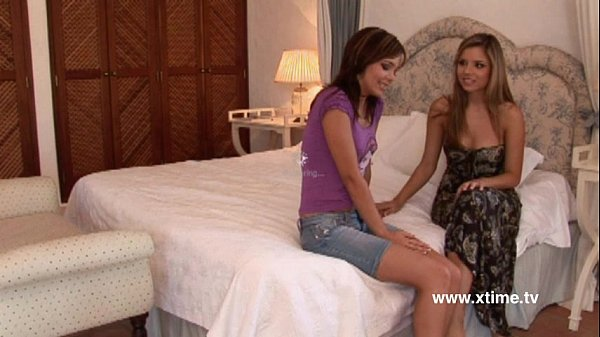 Tender sex between two stunning young lesbians