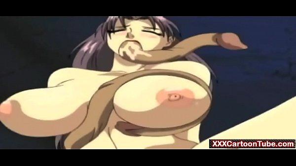 Tentance monster fucks girl in hot hentai action